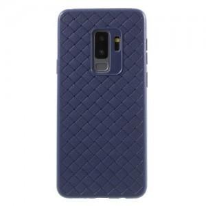SAMSUNG Galaxy S9 (SM-G960) Telefonvédő gumi / szilikon (bőrhatás, fonott minta) KÉK