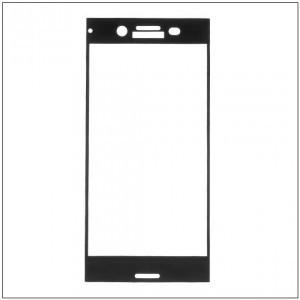 HTC U11 Képernyővédő fólia (1 db-os, 2.5D full cover, íves, ultravékony előlap, edzett üveg, karcálló, 0.33 mm, 9H) FEKETE