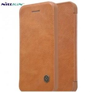 SONY Xperia XA2 (H4113) NILLKIN QIN tok álló, bőr (FLIP, oldalra nyíló, bankkártya tartó) BARNA