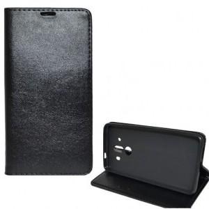 Apple iPhone 5 Tok álló, bőr (FLIP, mágneses, oldalra nyíló, bankkártya tartó, asztali tartó funkció) FEKETE