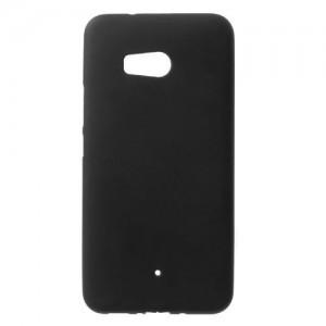 HTC U11 Telefonvédő gumi / szilikon (matt, fényes keret) FEKETE