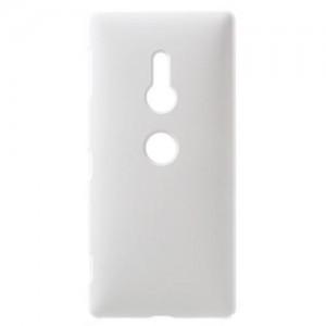 SONY Xperia XZ2 (H8266) Műanyag telefonvédő (gumírozott) FEHÉR