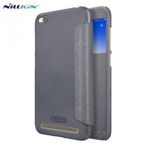 XIAOMI Redmi 5A NILLKIN SPARKLE műanyag telefonvédő (mikroszálas bőr flip, oldalra nyíló, S-View Cover) FEKETE