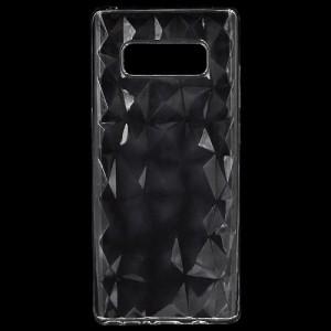 SAMSUNG Galaxy Note 8 (SM-N950F) Telefonvédő gumi / szilikon (3D, gyémánt minta) ÁTLÁTSZÓ