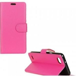 XIAOMI Redmi Note 5 Pro (Redmi Note 5) Tok álló, bőr (FLIP, oldalra nyíló, asztali tartó funkció) RÓZSASZÍN