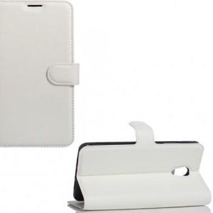 LG G7 ThinQ (G710EM) Tok álló, bőr (FLIP, oldalra nyíló, asztali tartó funkció) FEHÉR