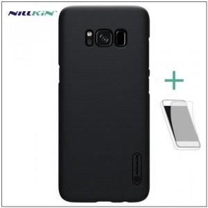 HUAWEI Honor 7x NILLKIN SUPER FROSTED műanyag telefonvédő (gumírozott, érdes felület, képernyővédő fólia, tisztítókendő) FEKETE