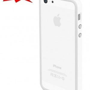 Apple iPhone 5 / iPhone 5S / iPhone SE Műanyag telefonvédő (bumper) FEHÉR + AJÁNDÉK első és hátsó fólia