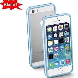 Apple iPhone 5 / iPhone 5S / iPhone SE Műanyag telefonvédő (bumper) KÉK + AJÁNDÉK első és hátsó fólia