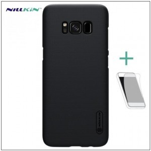 Asus Zenfone 3 Deluxe (ZS570KL) NILLKIN SUPER FROSTED műanyag telefonvédő (gumírozott, érdes felület, képernyővédő fólia, tisztítókendő) FEKETE