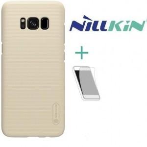 Asus Zenfone 3 Deluxe (ZS570KL) NILLKIN SUPER FROSTED műanyag telefonvédő (gumírozott, érdes felület, képernyővédő fólia, tisztítókendő) ARANY