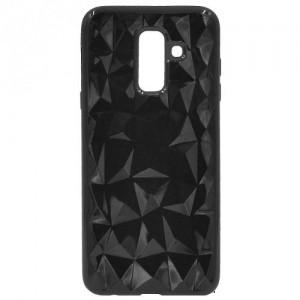 XIAOMI Redmi 5A Telefonvédő gumi / szilikon (3D, gyémánt minta) FEKETE