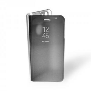 SAMSUNG GALAXY S7 EDGE G935 Műanyag telefonvédő (aktív flip, oldalra nyíló, Smart View Cover) EZÜST