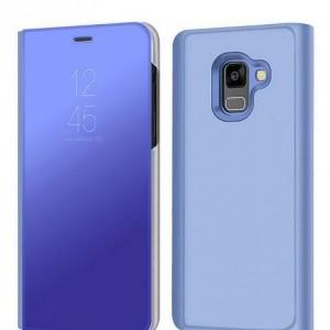 SAMSUNG GALAXY S8 PLUS G955 Műanyag telefonvédő (aktív flip, oldalra nyíló, Smart View Cover) KÉK