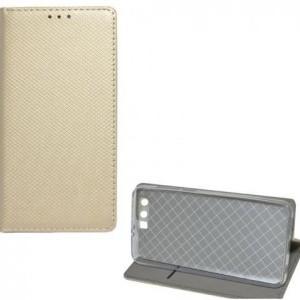 HTC U12 Plus Tok álló, bőr (FLIP, oldalra nyíló, asztali tartó funkció, rombuszminta) ARANY