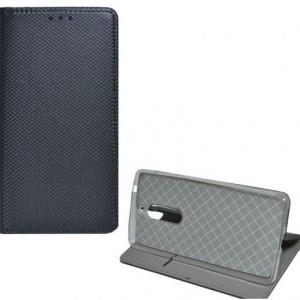 XIAOMI Redmi Note 5A Tok álló, bőr (FLIP, oldalra nyíló, asztali tartó funkció, rombuszminta) FEKETE
