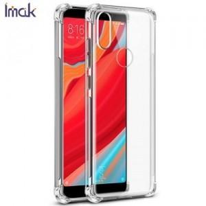 LG G7 ThinQ (G710EM) IMAK telefonvédő gumi / szilikon (közepesen ütésálló, légpárnás sarok, képernyővédő fólia, matt) ÁTLÁTSZÓ