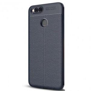 SONY Xperia XZ2 Premium Telefonvédő gumi / szilikon (bőrhatás, varrás minta) SÖTÉTKÉK