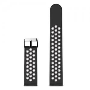 Pótszíj (lyukacsos, légáteresztő) FEKETE/SZÜRKE Fitbit Versa