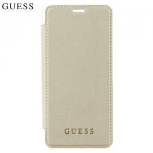 SAMSUNG Galaxy S9 Plus (SM-G965) Guess Iridescent műanyag telefonvédő (bőr flip, oldalra nyíló, átlátszó hátlap) ARANY