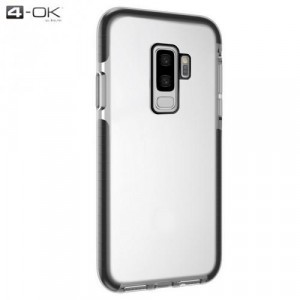 SAMSUNG Galaxy S9 (SM-G960) 4-OK telefonvédő gumi / szilikon (közepesen ütésálló, légpárnás sarok) FEKETE