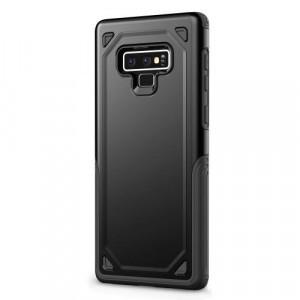 SAMSUNG Galaxy Note 9 Defender műanyag telefonvédő (közepesen ütésálló, gumi / szilikon belső, ultravékony) FEKETE/SZÜRKE