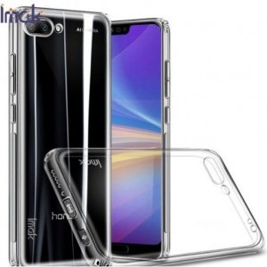 HUAWEI Honor 10 IMAK telefonvédő gumi / szilikon (közepesen ütésálló, képernyővédő fólia) ÁTLÁTSZÓ
