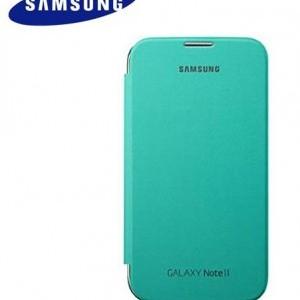 SAMSUNG Galaxy Note II (GT-N7100) Műanyag telefonvédő (oldalra nyíló) FLIP, MENTA (NFC-s)