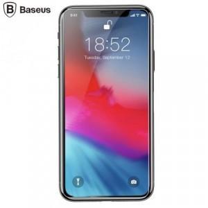 APPLE IPhone XS Max 6.5 BASEUS képernyővédő üveg (full screen, íves részre, ultravékony, karcálló, 0.3mm, 9H) TEMPERED GLASS