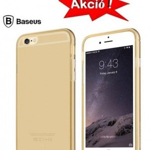 Apple iPhone 6 4.7/ Apple iPhone 6S 4.7 BASEUS SLIM szilikon tok, ARANY