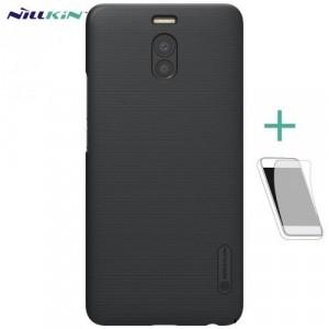 MEIZU M6 Note NILLKIN SUPER FROSTED műanyag telefonvédő (gumírozott, érdes felület) FEKETE