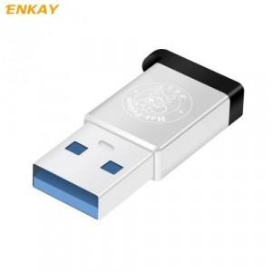 Adapter (USB 2.0, Type-C 3.1, töltéshez, adatátvitelhez, kulcstartóra tehető) EZÜST