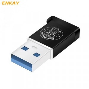 Adapter (USB 2.0, Type-C 3.1, töltéshez, adatátvitelhez, kulcstartóra tehető) FEKETE