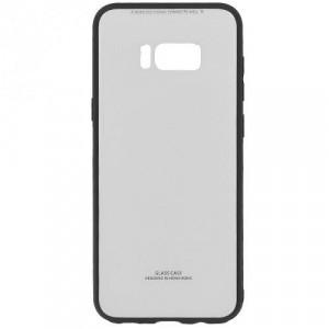 SAMSUNG Galaxy S8 Plus (SM-G955) Műanyag telefonvédő (közepesen ütésálló, üveg hátlap) FEHÉR