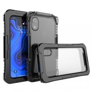 APPLE IPhone XR 6.1 Vízhatlan / vízálló tok, AQUA (10 méterig) FEKETE
