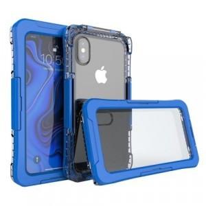 APPLE IPhone XS Max 6.5 Vízhatlan / vízálló tok, AQUA (10 méterig) SÖTÉTKÉK