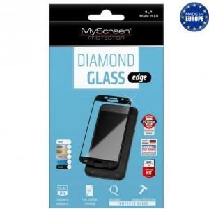 LG Q7 (X210) MYSCREEN DIAMOND GLASS EDGE képernyővédő üveg (2.5D full cover, íves, ultravékony előlap, karcálló, 0.33 mm, 9H) FEKETE