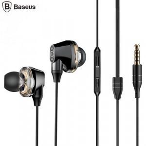 BASEUS ENCOK H10 fülhallgató SZTEREO (3.5mm jack, nyakba akasztható, mikrofon, dinamikus hangzás) FEKETE