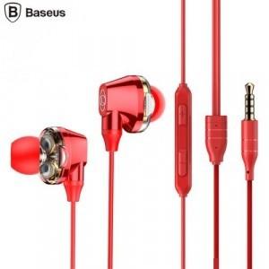 BASEUS ENCOK H10 fülhallgató SZTEREO (3.5mm jack, nyakba akasztható, mikrofon, dinamikus hangzás) PIROS