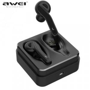 BLUETOOTH fülhallgató (v5.0, TWS, mikrofon, vízálló, 3D hangzás, töltőtok) FEKETE