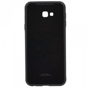 SAMSUNG Galaxy J4 Plus (J415F) Műanyag telefonvédő (közepesen ütésálló, üveg hátlap) FEKETE