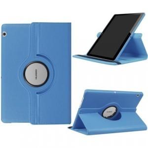 HUAWEI MediaPad T3 10 LTE/ HUAWEI MediaPad T3 10 WIFI Tok álló, bőr (FLIP, asztali tartó funkció, 360°-ban forgatható) VILÁGOSKÉK