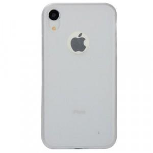 APPLE IPhone XR 6.1 Telefonvédő gumi / szilikon (matt, logo kivágás) FEHÉR