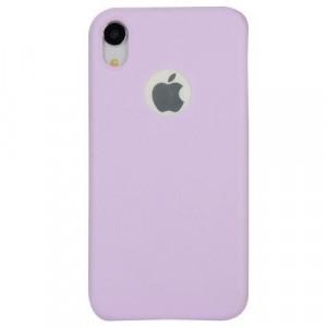 APPLE IPhone XR 6.1 Telefonvédő gumi / szilikon (matt, logo kivágás) LILA