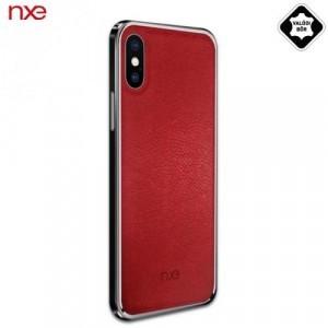 APPLE IPhone X 5.8 /APPLE IPhone XS 5.8 NXE műanyag telefonvédő (valódi bőr hátlap) PIROS
