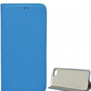 SAMSUNG Galaxy J4 Plus (J415F) Tok álló, bőr (FLIP, oldalra nyíló, asztali tartó funkció, rombuszminta) VILÁGOSKÉK