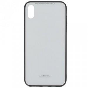 APPLE IPhone XS Max 6.5 Műanyag telefonvédő (közepesen ütésálló, üveg hátlap) FEHÉR