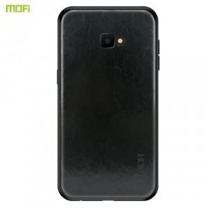 SAMSUNG Galaxy J4 Plus (J415F) MOFI műanyag telefonvédő (szilikon keret, bőr hátlap) FEKETE