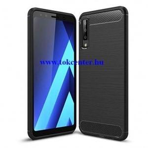 Carbon Fiber SAMSUNG Galaxy A7 (2018) SM-A750F fekete szilikon tok
