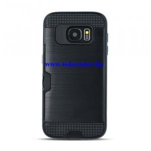 Defender Card SAMSUNG Galaxy J4 (2018) J400F fekete ütésálló hátlap tok